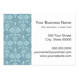 Pretty Pale Blue Damask Pattern Pack Of Chubby Business Cards