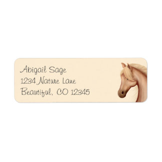 Pretty Palomino Horse Address Labels