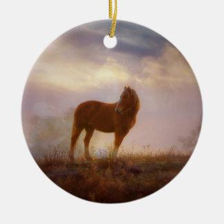 Pretty Palomino Mustang Ornament