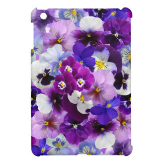 Pretty Pansies Spring Flowers, iPad Mini Hard Case iPad Mini Cases
