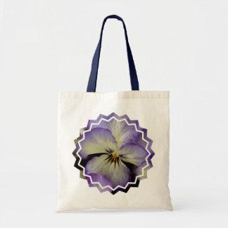 Pretty Pansy Small Tote Bag