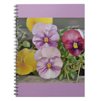 Pretty Pansy Spiral Notebooks