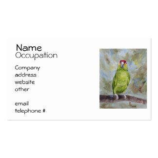Pretty Parrot II Business Card Template