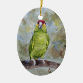 Pretty Parrot II Ceramic Ornament