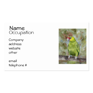 Pretty Parrot III Business Card