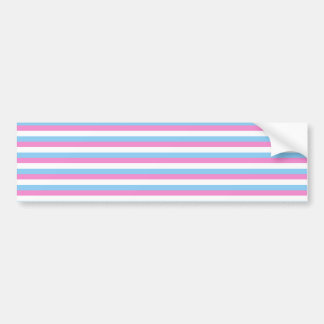 Pretty pastel candy Stripes. Bumper Sticker