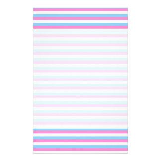 Pretty pastel candy Stripes. Custom Flyer