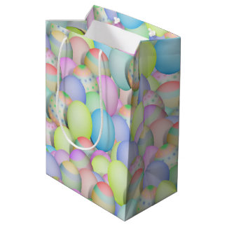 Pretty Pastel Colored Easter Eggs Medium Gift Bag