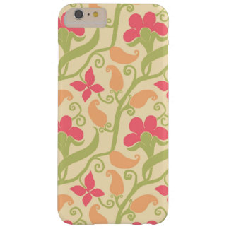 Pretty Pastel Colors Flowers And Paisley Pattern Barely There iPhone 6 Plus Case