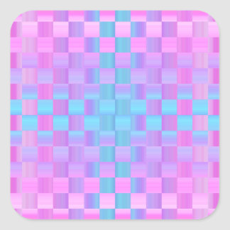 Pretty Pastel Colors  Mosaic Tile Pattern Square Sticker