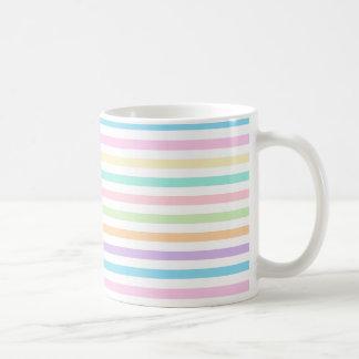 Pretty Pastel Horizontal Stripes Pattern Mug