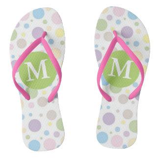 Pretty Pastel Monogrammed Thongs