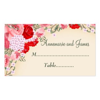 Pretty Pastel Multifloral Place Card Pack Of Standard Business Cards