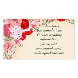 Pretty Pastel Multifloral Wedding Website Card Pack Of Standard Business Cards