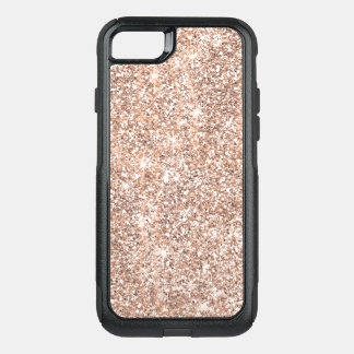 Pretty Pastel Rose Gold Glitter Sparkles OtterBox Commuter iPhone 8/7 Case