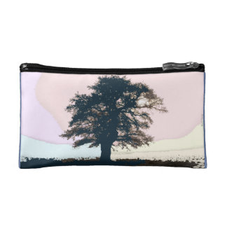 Pretty Pastel Tree Art Cosmetics Bag