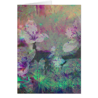 Pretty Pastel Watercolor Cherry Blossom Greeting Card