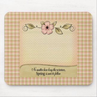 Pretty Pastels Floral Plaid Mousepad