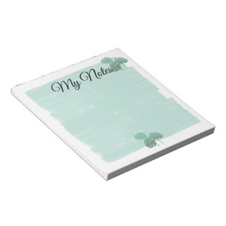 Pretty Pastels Mint Watercolor Canvas Notepad
