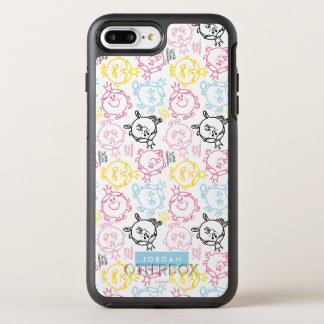 Pretty Pastels Pattern | Add Your Name OtterBox Symmetry iPhone 8 Plus/7 Plus Case