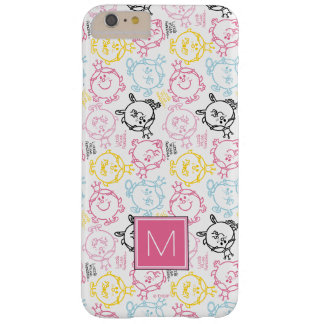 Pretty Pastels Pattern | Monogram Barely There iPhone 6 Plus Case