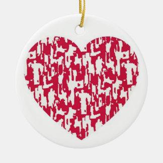 Pretty Pattern Red Heart Ornament