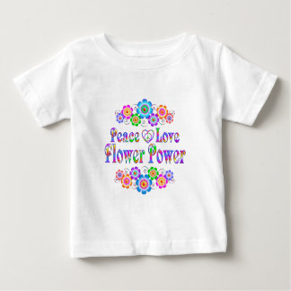 Pretty Peace Love Flower Power Baby T-Shirt