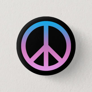 Pretty Peace Symbol Button