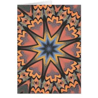 Pretty Peach Gray Starburst Pattern Card