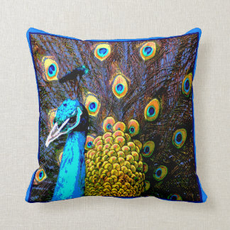 Pretty Peacock Art Pillow