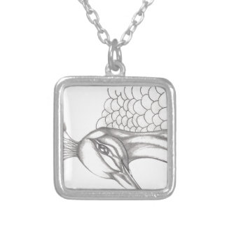 Pretty Peacock Silver Plated Necklace