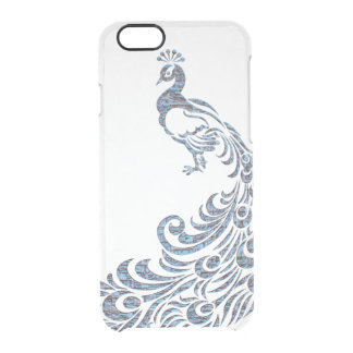 Pretty peacock tribal modern vintage bird clear clear iPhone 6/6S case