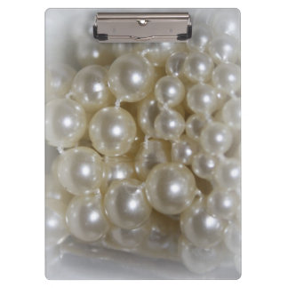 Pretty Pearls Home Office Clipboard