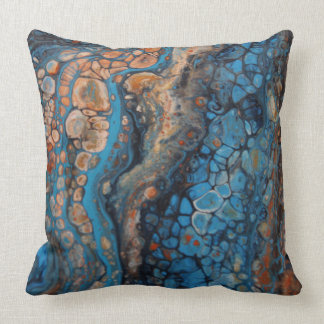 Pretty pebbles of colour cushion