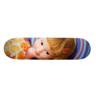 Pretty Penny Brite with circles Skate Board