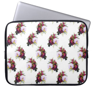 Pretty Peonies Pattern Laptop Sleeve