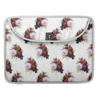 Pretty Peonies Pattern Sleeve For MacBook Pro