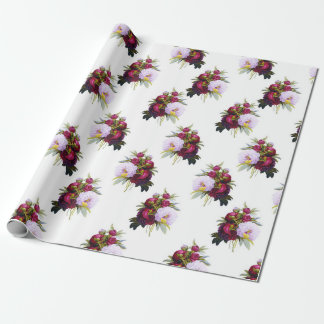 Pretty Peonies Pattern Wrapping Paper