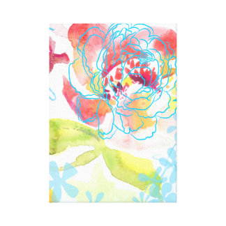 Pretty Peony Canvas Print