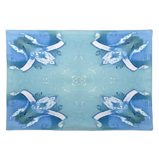 Pretty Personalizable Shades of Blues Placemat