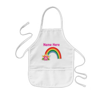 Pretty Personalized Rainbow Apron for Girls