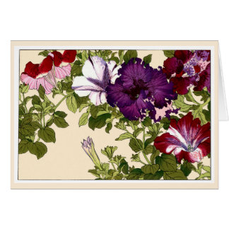 Pretty Petunias Botanical Art Card
