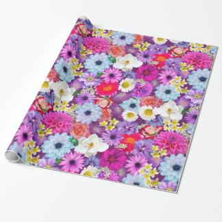 Pretty photo real floral wrapping paper
