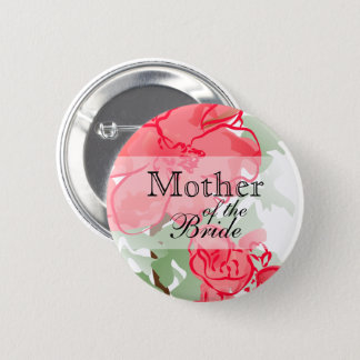 Pretty Pink Abstract Flowers 6 Cm Round Badge