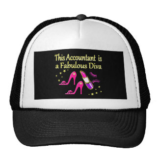 PRETTY PINK ACCOUNTANT DIVA DESIGN CAP