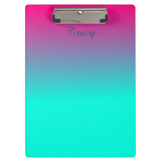 Pretty Pink and Blue Ombre Color Clipboard