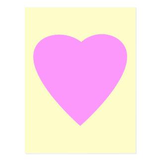 Pretty Pink and Cream Love Heart. Postcard
