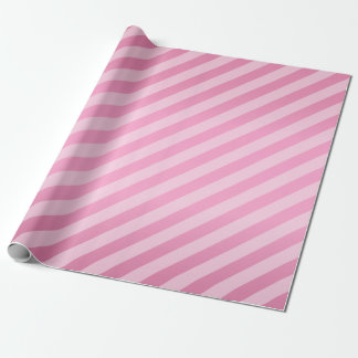 Pretty Pink and Diagonal Stripes Wrapping Paper