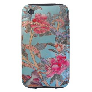 Pretty Pink and Light Blue Enamel Art iPhone 3 Tough Covers