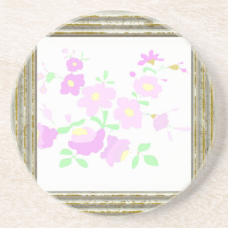Pretty Pink And Mauve Flowers Coaster